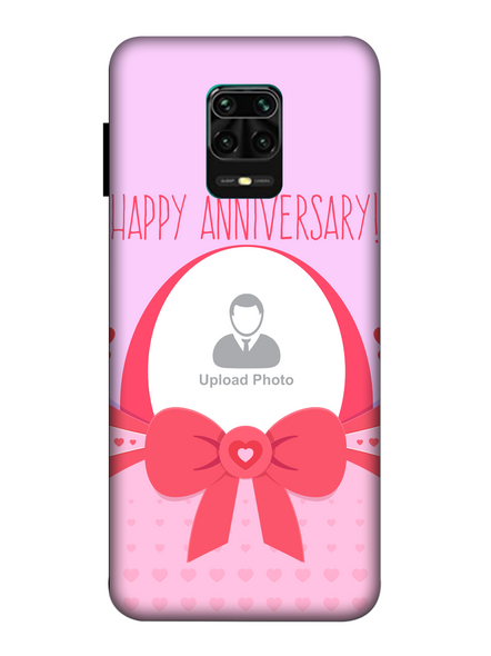 3D Happy Anniversary Elegent Personalized Mobile Back Cover for Xiaomi-Redmi-Note-9-P-03155