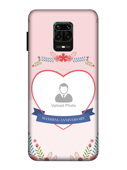 3D Happy Wedding Anniversary Personalized Mobile Back Cover For Xiaomi-Redmi-Note-9-P-04156