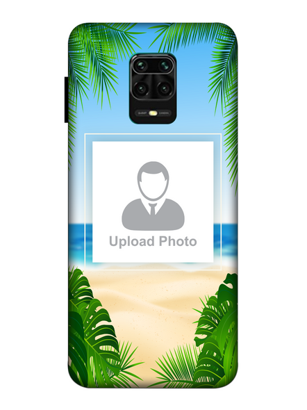 3D Beach View Customised Mobile Back Cover for Xiaomi-Redmi-Note-9-P-02159
