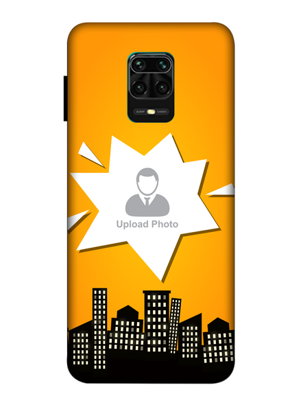 3D Buildings View Customised Mobile Back Cover for Xiaomi-Redmi-Note-9-P-07164