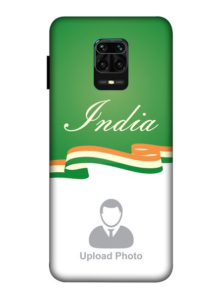 3D India Theme Customised Mobile Back Cover for Xiaomi-Redmi-Note-9-P-11168
