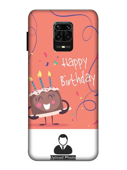 3D happy Birthday Cake Personalized Back Cover for Xiaomi-Redmi-Note-9-P-01170