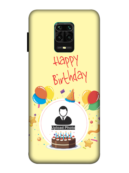 3D Birthday Party Celebrations Customised Back Cover for Xiaomi-Redmi-Note-9-P-05174