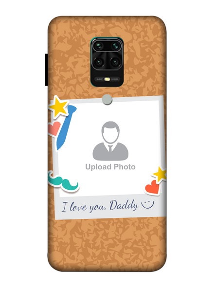 3D I love You Daddy hanging Sticker Mobile Back Cover for Xiaomi-Redmi-Note-9-P-01175