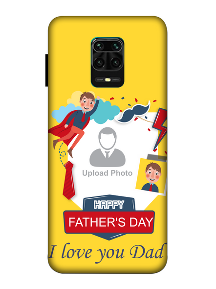 3D Super Father's Day Party Background Mobile Back Cover for Xiaomi-Redmi-Note-9-P-03177