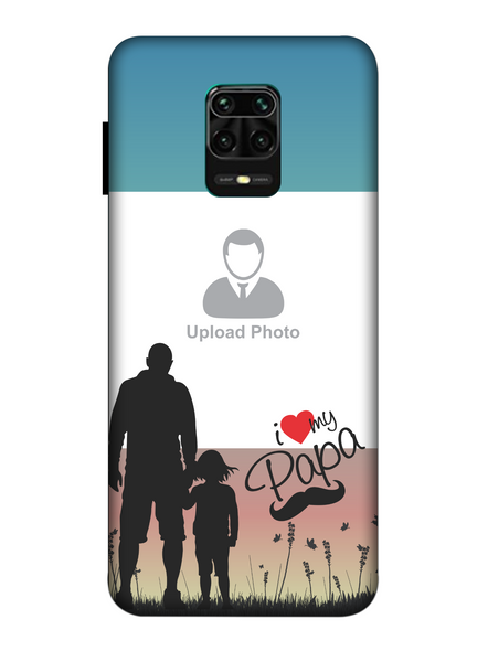 3D Father and Son Love Beautiful Mobile Back Cover for Xiaomi-Redmi-Note-9-P-04178