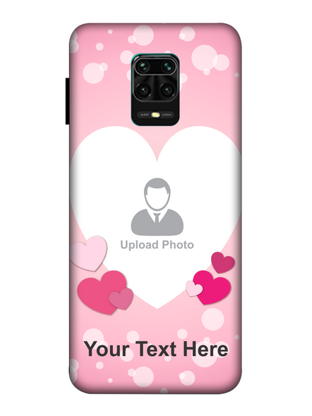 3D Light Hearts backgroun Personaised Mobile Back Cover for Xiaomi-Redmi-Note-9-P-04183