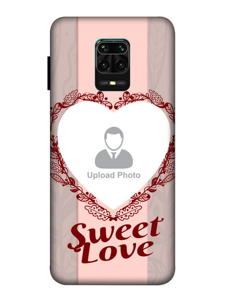 3D Elegent Heart Personalized Mobile Back Cover for Xiaomi-Redmi-Note-9-P-05184