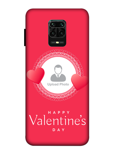 3D Beautiful Hearts Boundry Valentine's Day Printed Back Cover for Xiaomi-Redmi-Note-9-P-02187