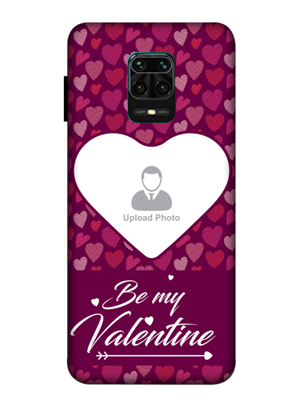 3D Multi Hearts Be My Valentine Personalized Mobile Back Cover for Xiaomi-Redmi-Note-9-P-03188