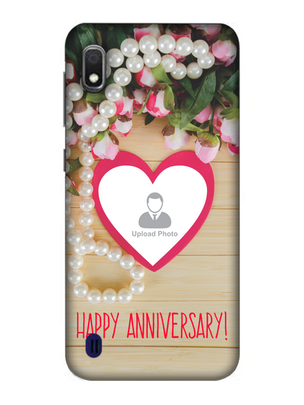 3D Happy Anniversary Personalized Mobile Back Cover for Samsung-SAMSUNG-A10--01191