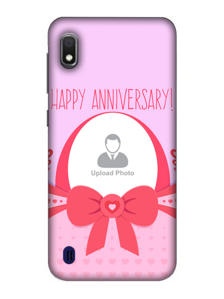 3D Happy Anniversary Elegent Personalized Mobile Back Cover for Samsung-SAMSUNG-A10--03193