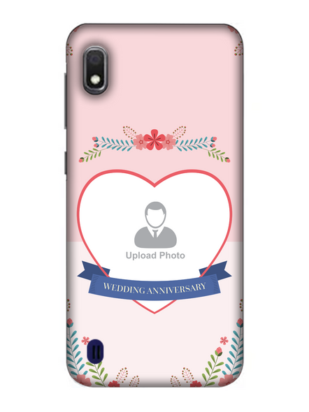 3D Happy Wedding Anniversary Personalized Mobile Back Cover For Samsung-SAMSUNG-A10--04194