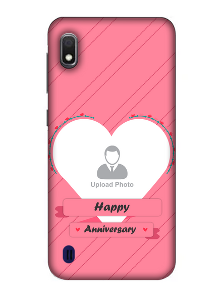 3D Happy Anniversary Heart Theme Personalized Mobile Back Cover for Samsung-SAMSUNG-A10--05195