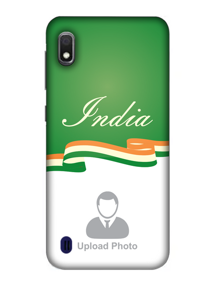 3D India Theme Customised Mobile Back Cover for Samsung-SAMSUNG-A10--11206