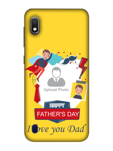 3D Super Father's Day Party Background Mobile Back Cover for Samsung-SAMSUNG-A10--03215