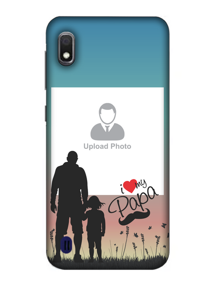 3D Father and Son Love Beautiful Mobile Back Cover for Samsung-SAMSUNG-A10--04216