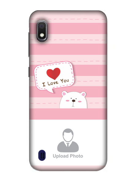 3D Cute Puppy Saying I Love You Personalized Mobile Back Cover for Samsung-SAMSUNG-A10--03220