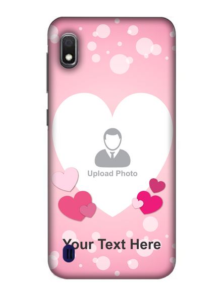 3D Light Hearts backgroun Personaised Mobile Back Cover for Samsung-SAMSUNG-A10--04221