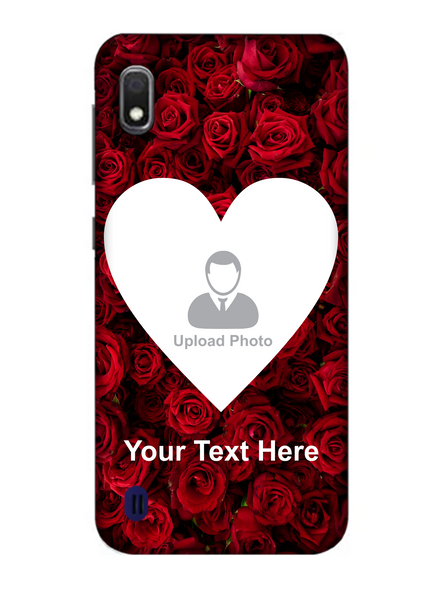 3D Beautiful Roses background Personalized Mobile Back Cover forSamsung-SAMSUNG-A10--06223