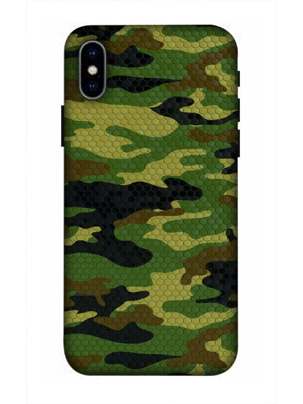 Apple Apple iPhone3D Designer Army Pattern Printed Mobile Cover-AppleiPhoneX-MOB002686