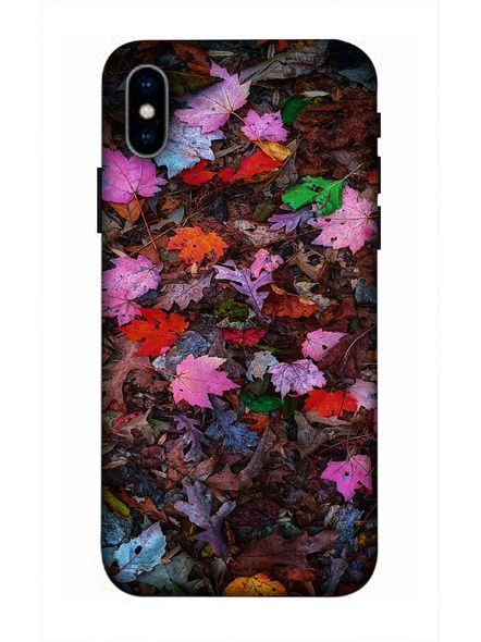 Apple iPhone3D Designer Colorful Leaves Printed Mobile Cover-AppleiPhoneX-MOB002960
