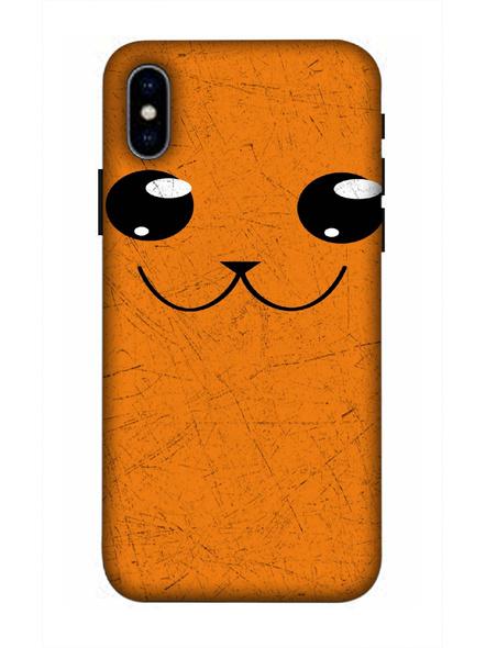 Apple iPhone3D Designer Cute Cat Face Printed Mobile Cover-AppleiPhoneX-MOB002963