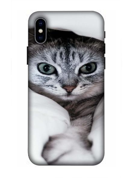 Apple iPhone3D Designer Cute Kitty Cat Printed Mobile Cover-AppleiPhoneX-MOB002964