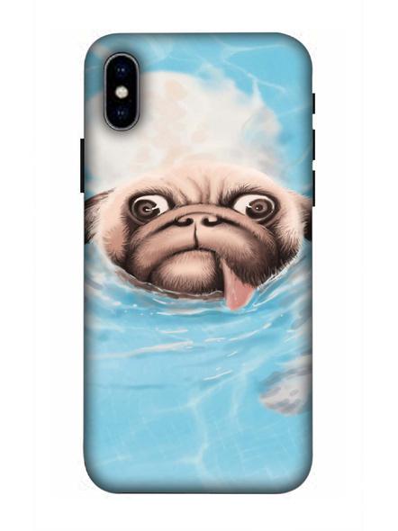 Apple iPhone3D Designer Cute Pug Face Printed Mobile Cover-AppleiPhoneX-MOB002966