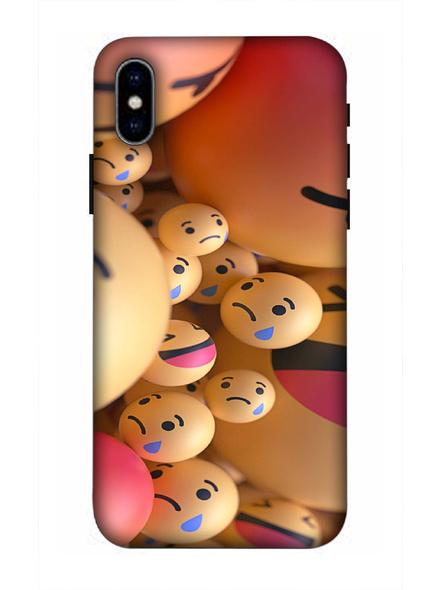 Apple iPhone3D Designer Emojies Balls Printed Mobile Cover-AppleiPhoneX-MOB002971