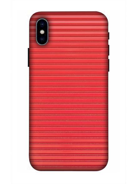 Apple iPhone3D Designer Peach Lines Printed Mobile Cover-AppleiPhoneX-MOB003013