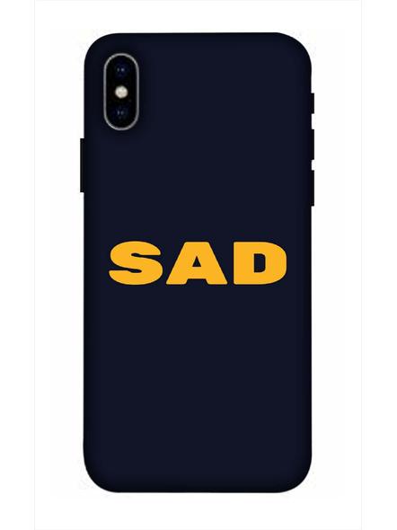 Apple iPhone3D Designer Sad Quote Printed Mobile Cover-AppleiPhoneX-MOB003030