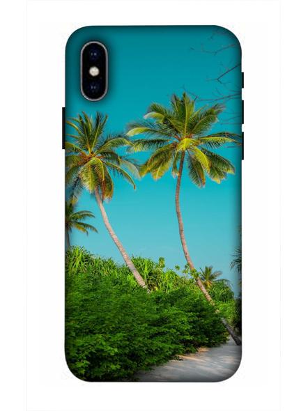 Apple iPhone3D Designer Sea Beach Tree Printed Mobile Cover-AppleiPhoneX-MOB003034
