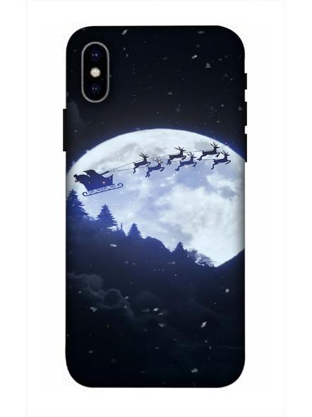 Apple iPhone3D Designer Santa Going Home Printed Mobile Cover-AppleiPhoneX-MOB003041
