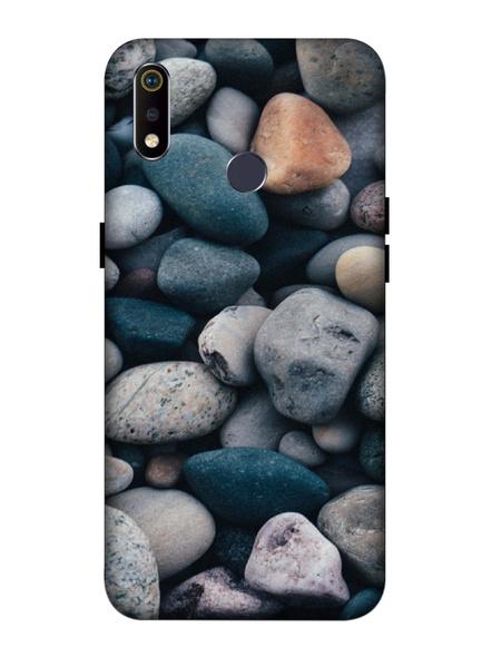 Oppo 3D Designer Big Rocks Marble Printed  Mobile Cover-Realme3i-MOB002729