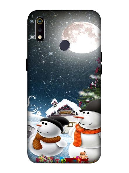 Oppo 3D Designer Christmas Night Printed  Mobile Cover-Realme3i-MOB002963