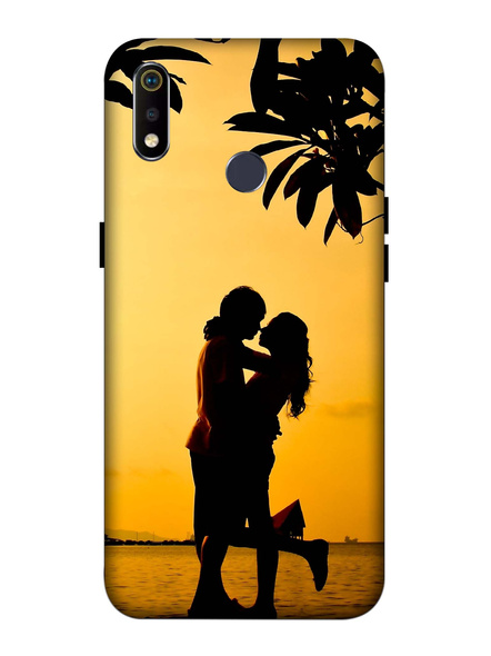 Oppo 3D Designer Couple in the Evening Printed  Mobile Cover-Realme3i-MOB002967