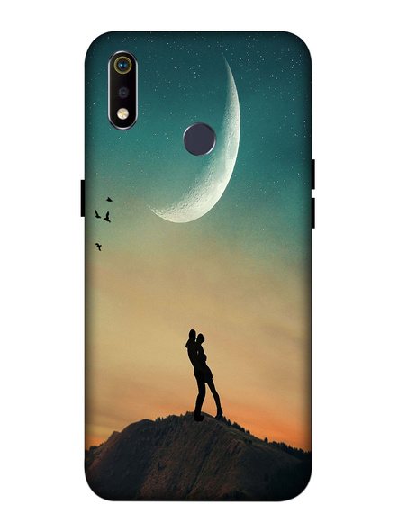 Oppo 3D Designer Couple Love painting Printed  Mobile Cover-Realme3i-MOB002971