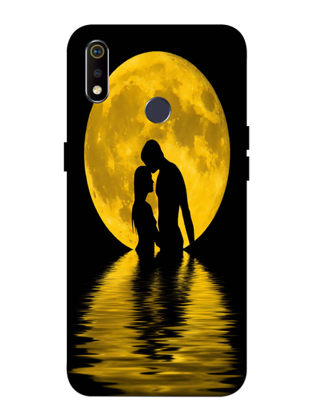Oppo 3D Designer Couple Moon View Printed  Mobile Cover-Realme3i-MOB002975