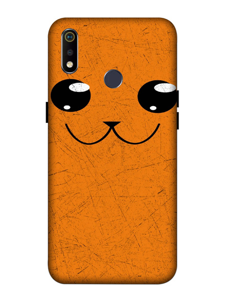 Oppo 3D Designer Cute Cat Face Printed  Mobile Cover-Realme3i-MOB002987