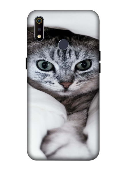 Oppo 3D Designer Cute Kitty Cat Printed  Mobile Cover-Realme3i-MOB002988