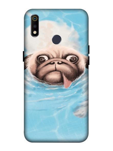 Oppo 3D Designer Cute Pug Face Printed  Mobile Cover-Realme3i-MOB002993