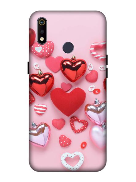 Oppo 3D Designer Elegent Pink Hearts Printed  Mobile Cover-Realme3i-MOB003002