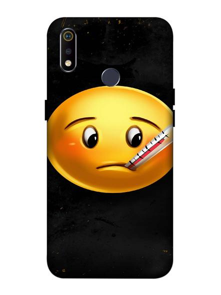 Oppo 3D Designer Fever Emoji Printed  Mobile Cover-Realme3i-MOB003010