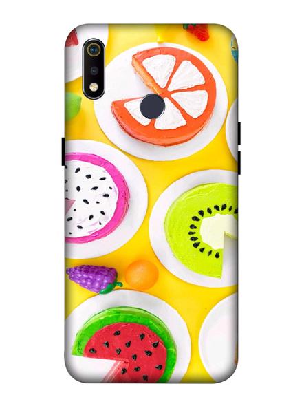 Oppo 3D Designer Fruits Donats Printed  Mobile Cover-Realme3i-MOB003014