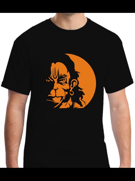 Mere Pass Maa Hai Round Neck Tshirt for Men-RNECK0004-Black-XL