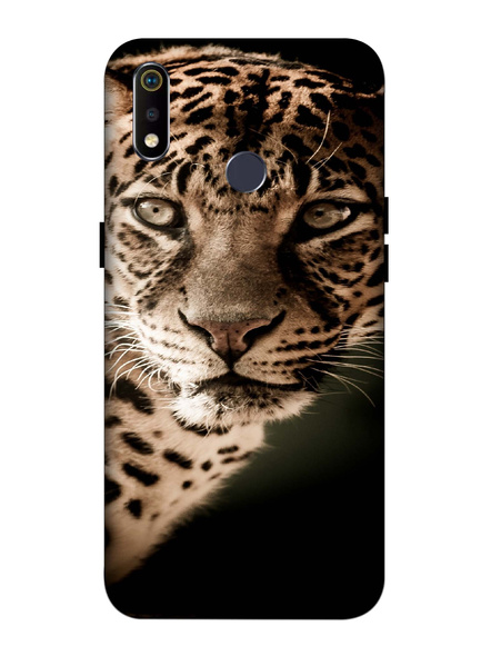 Oppo 3D Designer Leopard Face Printed  Mobile Cover-Realme3i-MOB003044