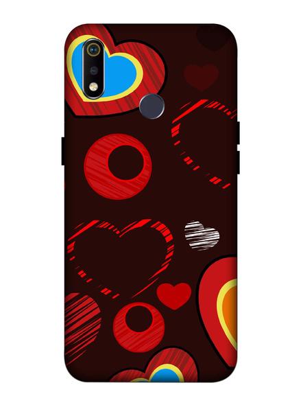 Oppo 3D Designer Love Hearts Printed  Mobile Cover-Realme3i-MOB003053