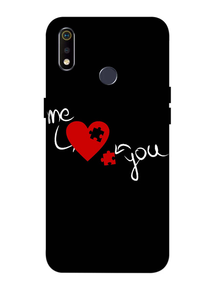 Oppo 3D Designer Me Love Puzzle Printed  Mobile Cover-Realme3i-MOB003065
