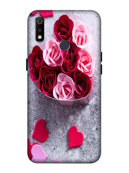 Oppo 3D Designer Multicolor Roses Printed  Mobile Cover-Realme3i-MOB003069